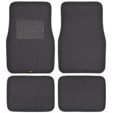 MOTOR TREND HD Carpet Floor Mats in Charcoal - Plush & Durable w/ Heel Pads