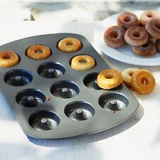 Mini Donut Pan 12-Cavity Doughnut Mold Molder Nonstick Baking Tray Cake Dessert
