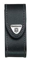 New Swiss Army Leather Knife Belt Pouch, Black, Victorinox New In Box 33260