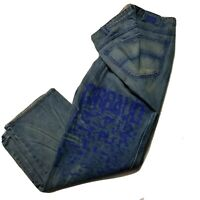 Marithe Francois girbaud 40 graphic logo jeans mens hip hop vintage relaxed blue