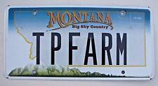 "MONTANA VANITY LICENSE PLATE "" T P  FARM "" TP FARM  TOILET PAPER FARMS"
