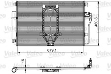Kondensator, Klimaanlage VALEO 812502 für MERCEDES-BENZ