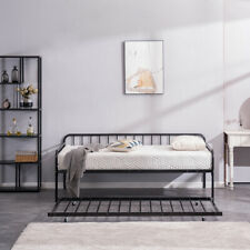 New Arrived Square Tube Trundle and Bed Black Twin