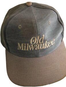 Old Milwaukee Vintage Snapback Hat Cap USA  Worn Distress