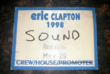 Eric Clapton 1998 backstage pass