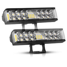 "2X 7Inch LED Work Light Bar Pods Spot Flood Combo Driving Lights OffRoad 4WD 6"""