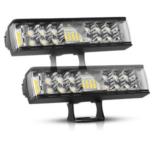 2X 7Inch LED Work Light Bar Pods Spot Flood Combo Driving Lights OffRoad 4WD 6""
