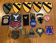VINTAGE LOT OF 18 RARE ORIGINAL US MISC MILITARY PATCHES - No Glow