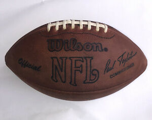 Official Wilson game used NFL Football Paul Tagliabue Commissioner