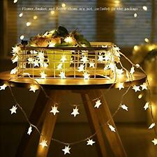 Star String Lights Battery Operated LED Twinkle Lights 50pcs LED Indoor Fairy