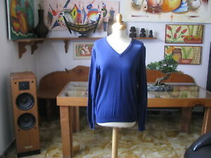 Pull Femme Royale, Bleu Dur , Taille M - Made IN Italy