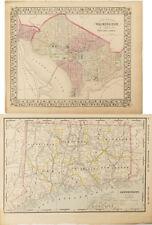 Maps of Washington, D.C., & Connecticut c.1870s Lot 2427