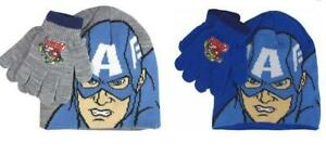 Boys Avengers Capt America Hat And Gloves Sets