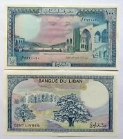 LIBANO LEBANON 100 libras de 1988, P-66d. Plancha UNC.