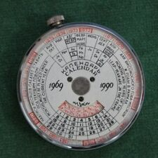 "Vintage USSR Circular Slide Date Rule Calendar & Leather Case ""Moscow City Hero"""