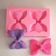 2 Textured Bow Tie Silicone Mold for Fondant, Gum Paste, Chocolate or Cake Decor