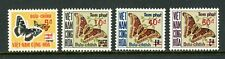 Vietnam Scott #J21-J24 MNH SCHGS on Moths FAUNA CV$8+