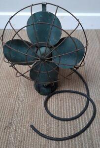 Rare 1940's Electric Desk Fan - Made by DRH model 19420