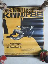 KAMIKAZE '89 movie Teleculture poster RAINER WERNER FASSBINDER scarce