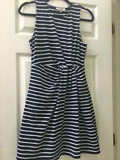 Honey Belle Size S Sleeveless Dress Blue/White Stripe