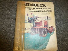 Hercules Model Twin Thirty Concrete Pump Owner Operator Maintenance Manual Book