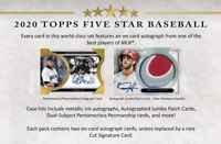 2020 Topps Five Star Baseball Hobby Live Random Player 1 Box Break #1