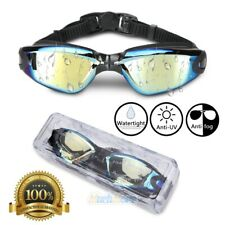 Swimming Goggles Uv Protection Anti Fog Swim Mirror Glasses For Adult Men Women
