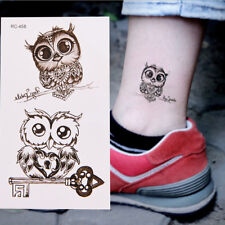1Pc Makeup Cute Owl Tattoo Arm Body Art Waterproof Temporary Tattoo Stickers LTU