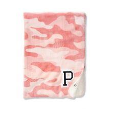 "Victoria's Secret Pink Sherpa Blanket Pink Camo Soft, Warm & Cozy 50"" x 60"""