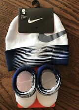 NEW Nike Boys Infant Hat & Booties Set Size 0 - 6 Months