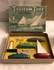 Vintage Tillicum Toys Tiny Fleet Milton Bradley Company t-84  Light House Boat