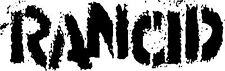 Rancid logo patch/écusson Neuf Blanc Punk Punk Rock Oi Skinhead Tim Armstrong