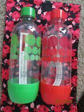 New listing Nos Exp 2017 SodaStream Carbonating Bottles .5 L 2 Pack Green & Red Polka Dot