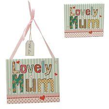 Lovely Mum Appeso Placca Regalo Festa della mamma