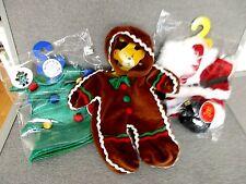Build a Bear-Christmas CLOTHES-Santa Suit Beard Boots-Gingerbread Holiday Lot K3