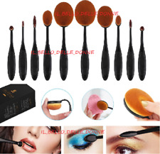 10 PZ -Professionale-Pennelli Cosmetici Makeup Brush Spazzola Trucco Set TRUCCO