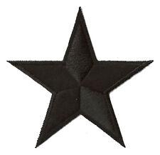 Patche écusson brodé transfert étoile noire 85 mm patch embellissement DIY