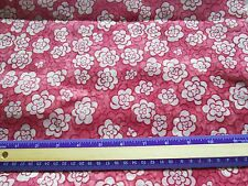 """Sheer polyester drapery weight fabric-pink /white floral,print-2 yds 26"""" by 46"""""""
