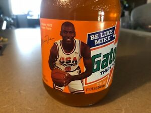 Offer! Vintage Michael Jordan Gatorade bottle Nike Air NEW old stock collector