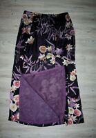 KENZO, Couture Seidenrock Rock Maxirock im Japan Look mit Blüten, Gr. 36, WIE NE