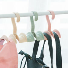Hot Handbag Storage Shelf Hook Wardrobe Rod Scarf Hanger Rotatable Hooks Holder