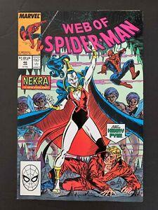 WEB OF SPIDER-MAN #46  MARVEL COMICS 1989 VF+