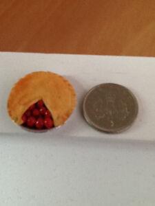 Fruit Pie Dolls House Miniature Dining Room 1/12th Handmade