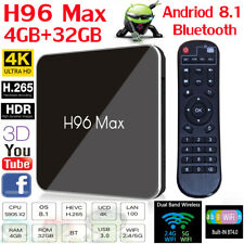 H96 Max X2 Android 8.1 TV BOX 4GB+32GB S905X2 Quad Core 2.4G+5G WiFi 4K HD H.265