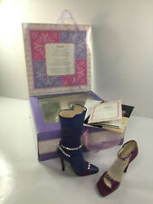 Rare Just The Right Shoe Collectable Ornament Boxed Duet 25787