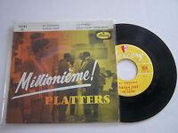 EP 4 TITRES VINYLE 45 T , THE PLATTERS , MY SERENADE  . VG  / EX AVEC LANGUETTE