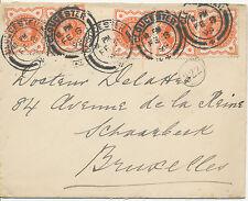 2468 1899 QV Jubilee ½ D orange extremely rare multiple postage (5 x) superb cvr