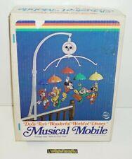 ++ ancien mobile musical vintage dolly toy's wonderful world of disney en boite