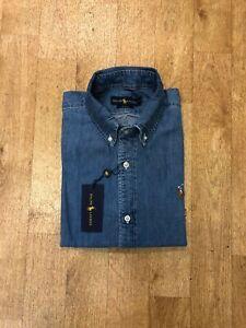 Ralph Lauren Men's Slim Fit Denim Shirt - Light Wash Denim - XL