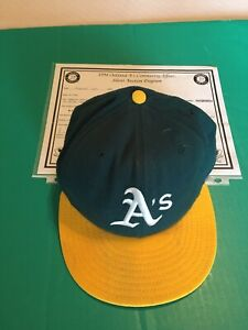 1994 Carney Lansford Oakland Athletics As Game Worn Used Cap Hat with COA